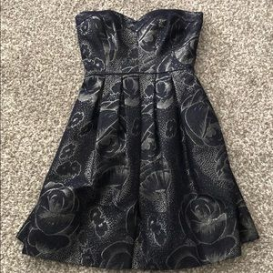 Rebecca Taylor Silver and Navy Dress Size 0